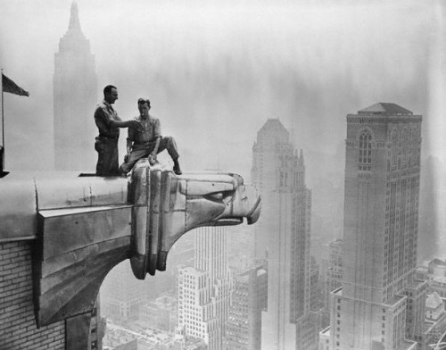 Workers on the Chrysler Building. Photo by Margaret Bourke-White. I could not resist including this shot.