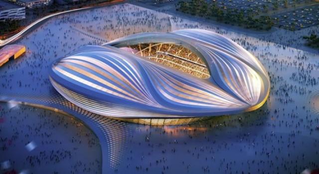 Zaha Hadid's proposed Al Wakrah Stadium, in Qatar