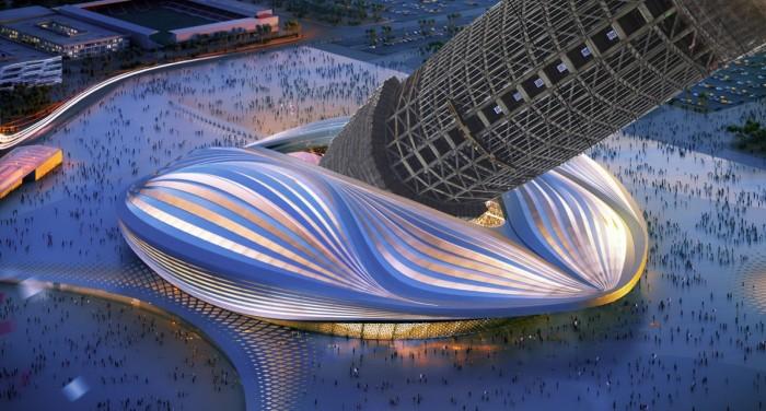 Resultado de imagen de Zaha Hadid, qatar stadium