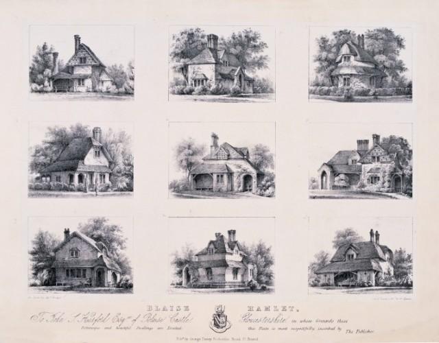 House designs for Blaise Hamlet, outside of Bristol