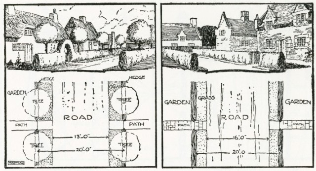 Preferred garden city road patterns by Raymond Unwin
