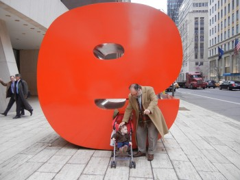 Dad and Billy, 2, on W57th, near Rizzoli