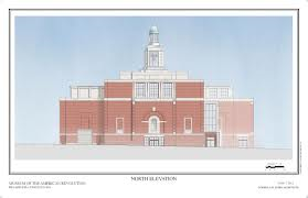 Elevation of museum front. (RAMSA)