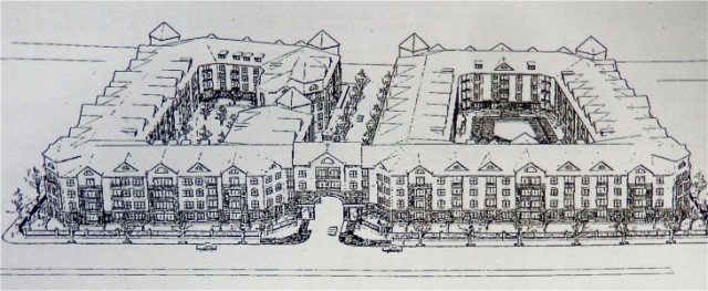 Original proposal for Parcel 6, along the Mosshasuck River. (Brussat archives)