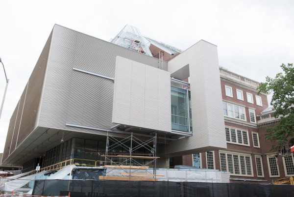 Addition to Fogg Museum of Art, at Harvard, designed by Renzo Piano.