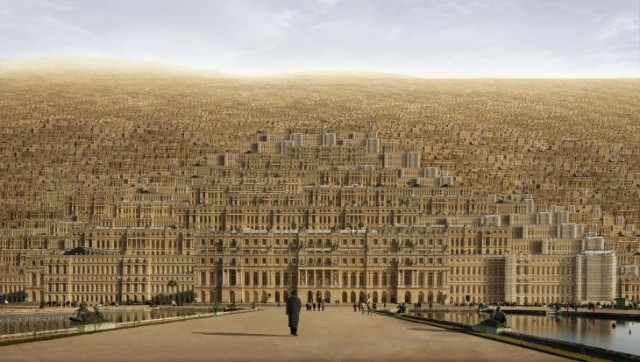 """Versailles"" (2009), a montage by Jean-Francois Rauzier. (Waterhouse & Dodd Gallery, New York, London)"