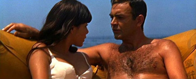 "James Bond ends ""You Only Live Twice""  in a raft (a sort of island) with Mie Hama."