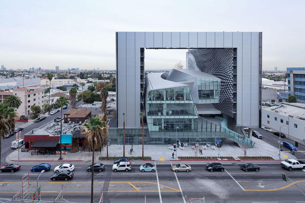 Emerson College's new L.A. campus, by Thom Mayne. (Los Angeles Times)