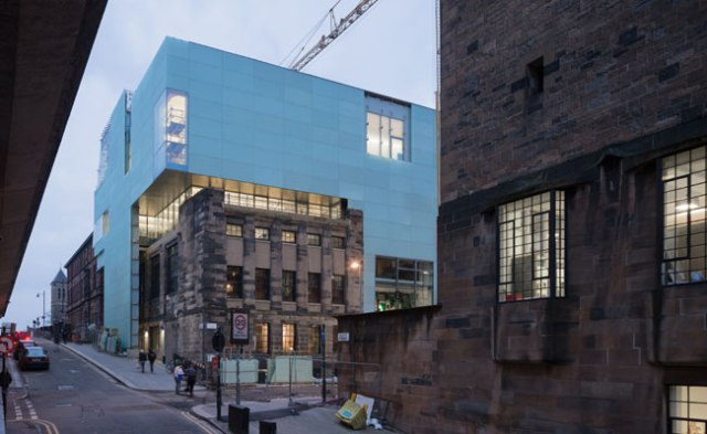 Seona Reid Building, addition to Glasgow School of Art (photo by Iwan Baan)
