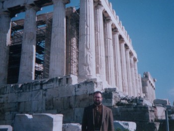 Me at the Parthenon. (Photo by David Brussat's camera)