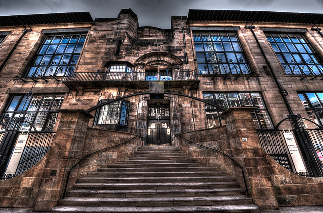 Mackintosh Building, Glasgow School of Art. (flickr.com, from page of Lex McKee)