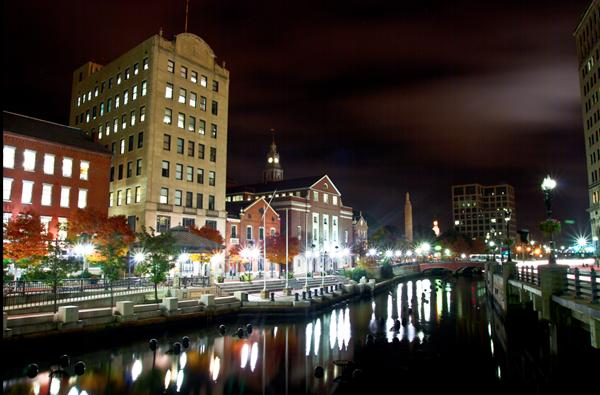 RISD Canal Wak, across Providence River from downtown. Built in 1996.