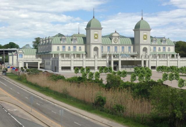 Proposed Beaux Arts casino retrofit for Newport Grand. (Northeast Collaborative Architects)