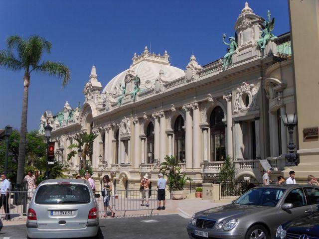 Grand Casino of Monte Carlo, in Monaco, erected in 1858.