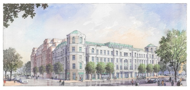 Design for a building on Charleston's Courier Square by RAMSA.
