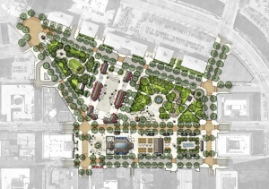 Plan of Union Studio's design of Kennedy Plaza.