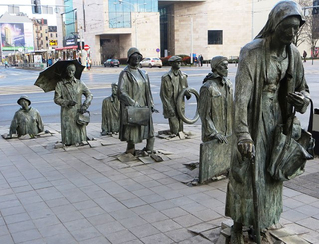 """The Monument of an Anonymous Passerby,"" in Wroclaw, Poland"