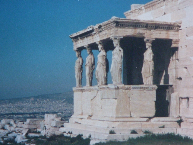 The Erekthion, near the Parthenon on the Acropolis, in Athens. (Photo by David Brussat)