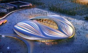 Modernism today: Zaha Hadid's proposed stadium in Qatar. (theguardian.com)