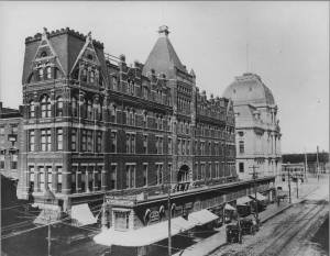 Hotel Dorrance and Dorrance Court Building. (Cliff Coutcher, John O. Pastore Collection, Providence College)