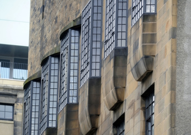 Fenestration at the Glasgow School of Art, designed by Charles Rennie Mackintosh. (thescotsman.com)
