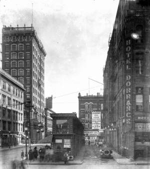 Dorrance Street, looking south, circa 1920. (Journal archives)