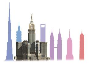 Clock Tower Hotel on chart of tallest buildings. (aaviss.com)