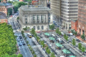 This half of Kennedy Plaza was demolished over the summer. (brendaleetroiaphotography.com)