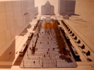 Rendering of Kennedy Plaza. (RIPTA)