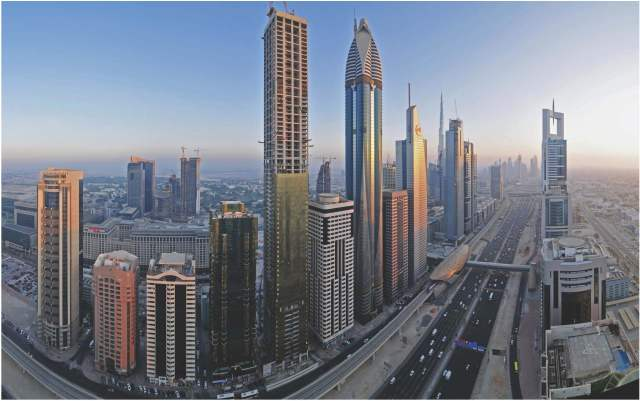 Skyscrapers in Dubai. (Courtesy of James Howard Kunstler)