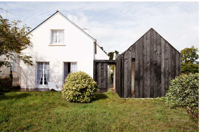 Addition to a cottage in Brittany, France. (NeM Architectes, Paris)