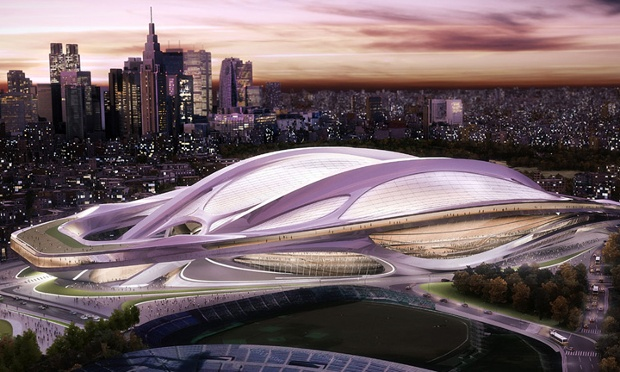 Original version of Hadid's stadium in Tokyo. (Guardian)