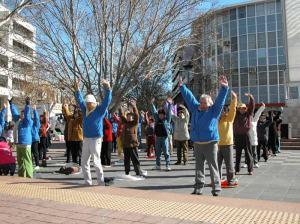 Healthy plaza in Canberra. (clearwisdom.net)