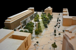 Latest version of Frank Gehry proposal for Eisenhower memorial. (archdaily.com)