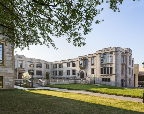 New wing of Honors College, at University of Arkansas. (RAMSA)