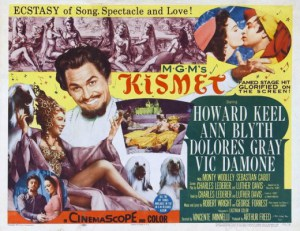 "Poster for 1955 musical ""Kismet."" (stevelensman.hubpages.com)"