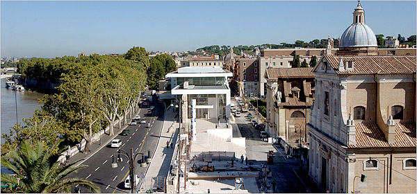 The Ara Pacis Museum, in Rome. (nytimes.com)