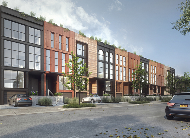 Proposed townhouses in Brooklyn. (curbedny.com)