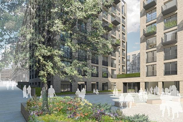 Royal Mail proposal for blocks of flats in London. (Evening Standard)