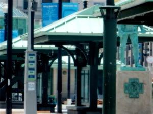 Old Kennedy Plaza kiosks.