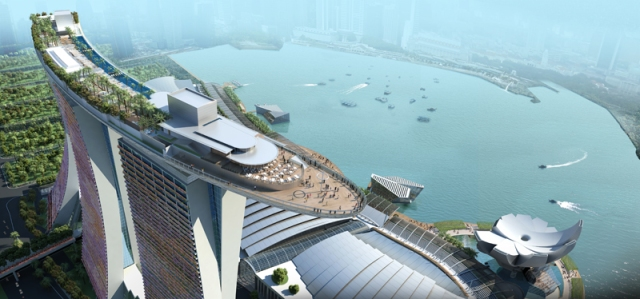 """Actual caption in BDB: """"Skypark Marina Bay Sands, Singapore, Photo from nocamels.com"""""""