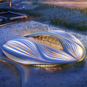 Stadium in Qatar by Zaha Hadid. (dezeen.com)