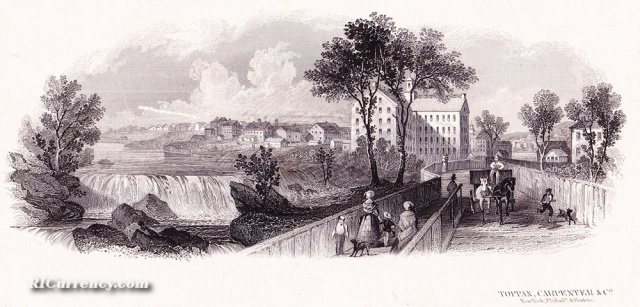 Woonsocket, circa 1800. (ricurrency.com)