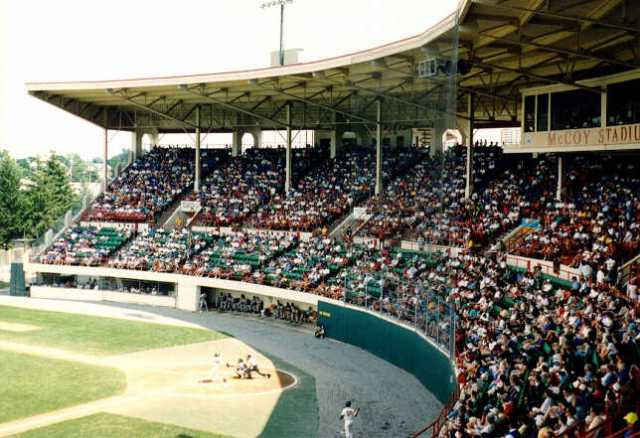 McCoy Stadium, in Pawtucket, R.I. (minorleagueballparks.com)