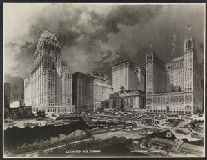 Terminal City, with Commodore Hotel to right of Grand Central. (collections.mcny.org)
