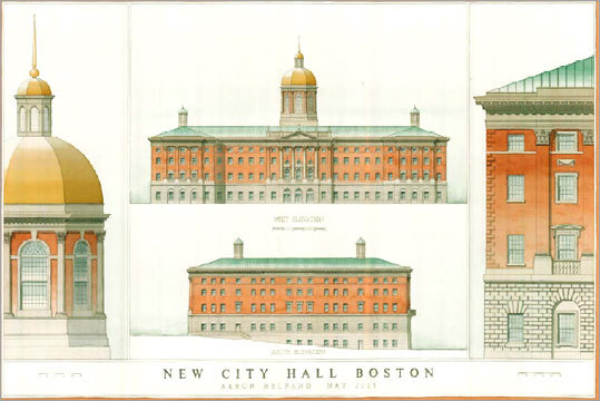 Proposed new Boston City Hall designed by Aaron Helfand. (anarchitectureofhumanism.blogspot.com)