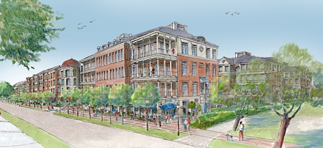 Proposed mixed use project on edge of Charleston's downtown historic district. (charlestoncitypaper.com)