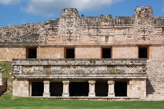 Pavilion at Uxmal, possibly a Maya royal residence or building of state. (Photo by Nathaniel Walker)