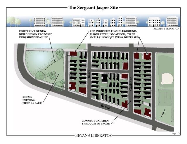 Proposal for Sgt. Jasper site by Bevan & Liberatos. (bevanandliberatos.com)