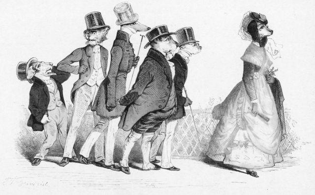 By Jean Ignace Isidore Gérard (1803-47), known as Grandville. (paumsarin.wordpress.com)